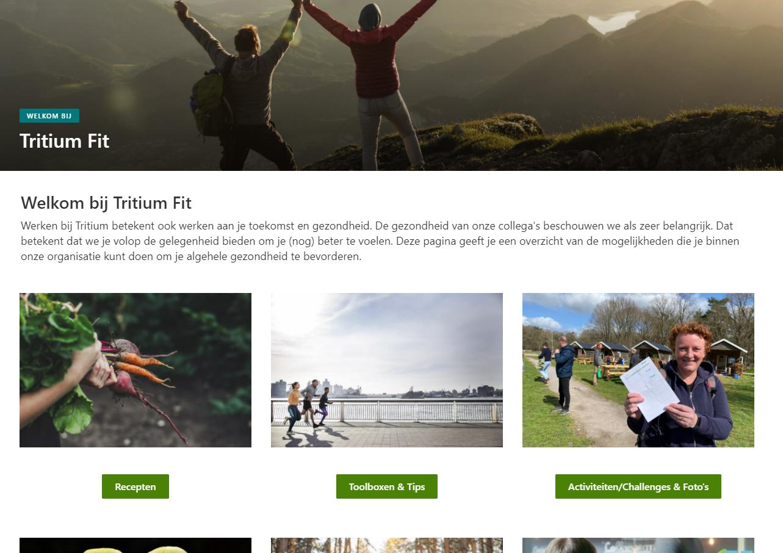 Screenshot Tritium Fit intranet